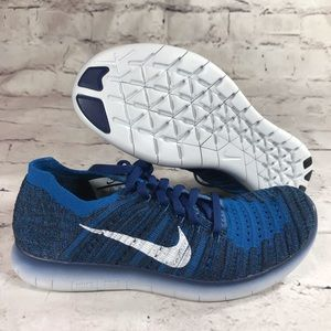 Nike Free RN Flyknit Coastal Blue running shoes